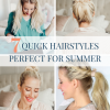 The easiest hairstyles