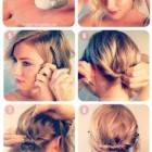 Very simple hairstyle for short hair
