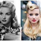 Vintage roll hairstyle