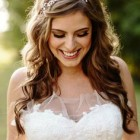 Hairstyle for wedding gown