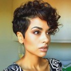 Pixie cut with curly hair