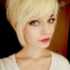 Pixie haircut with long sides
