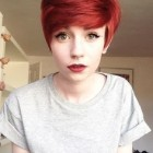 Pixie red haircut