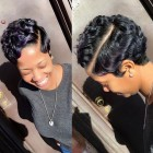 Different short hairstyles for black ladies