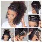 Easy natural curly hairstyles
