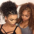 Natural curl styles