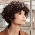 Short hair for women with curly hair