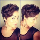 Short haircuts for black women with color