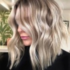 Blonde layered hair