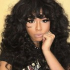 Curly weave with bangs