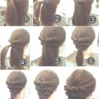 Easy 1940s hairstyles for long hair