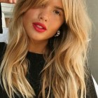 Hairstyles for long hair and fringe