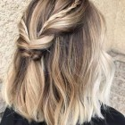 Half up and half down hairstyles for short hair