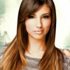 Long haircuts with side fringe