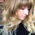Long layered hairstyles with fringe