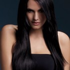 Long straight hair with fringe