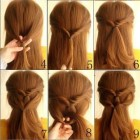 Making simple hair style
