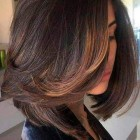 Medium length hair with lots of layers