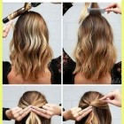 Party updos for short hair