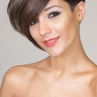 Short hairstyles with long fringe