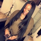 Straight hair weave hairstyles