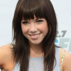 Straight hair with bangs hairstyles