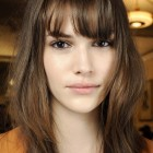 Womens long hairstyles with fringe